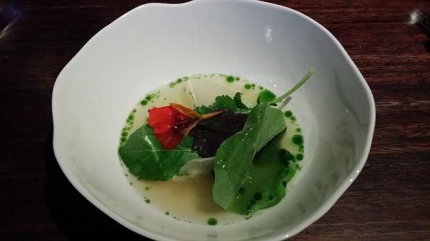 La degustation 3 třeboň catfish, yeast, kohlrabi